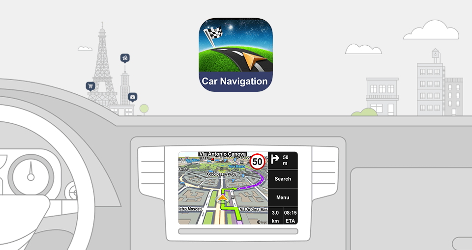 sygic car navigation for android auto and apple carplay. Black Bedroom Furniture Sets. Home Design Ideas