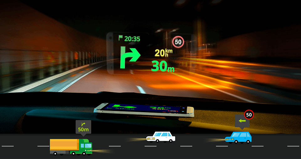 Head Up Display Navigation For Your Smartphone Sygic