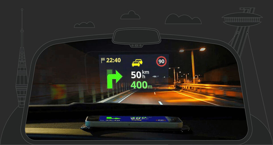 what is a head up display a k a hud sygic bringing. Black Bedroom Furniture Sets. Home Design Ideas