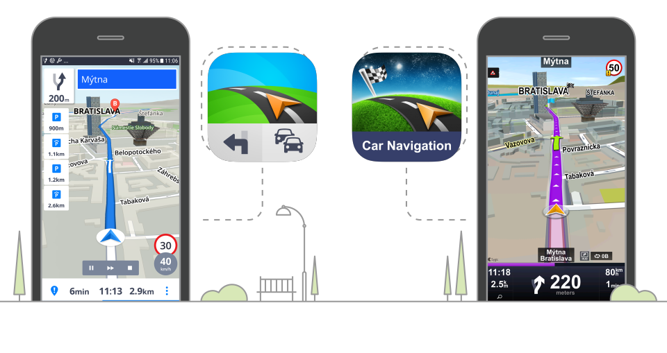 The difference between Sygic Car Navigation and Sygic GPS Navigation