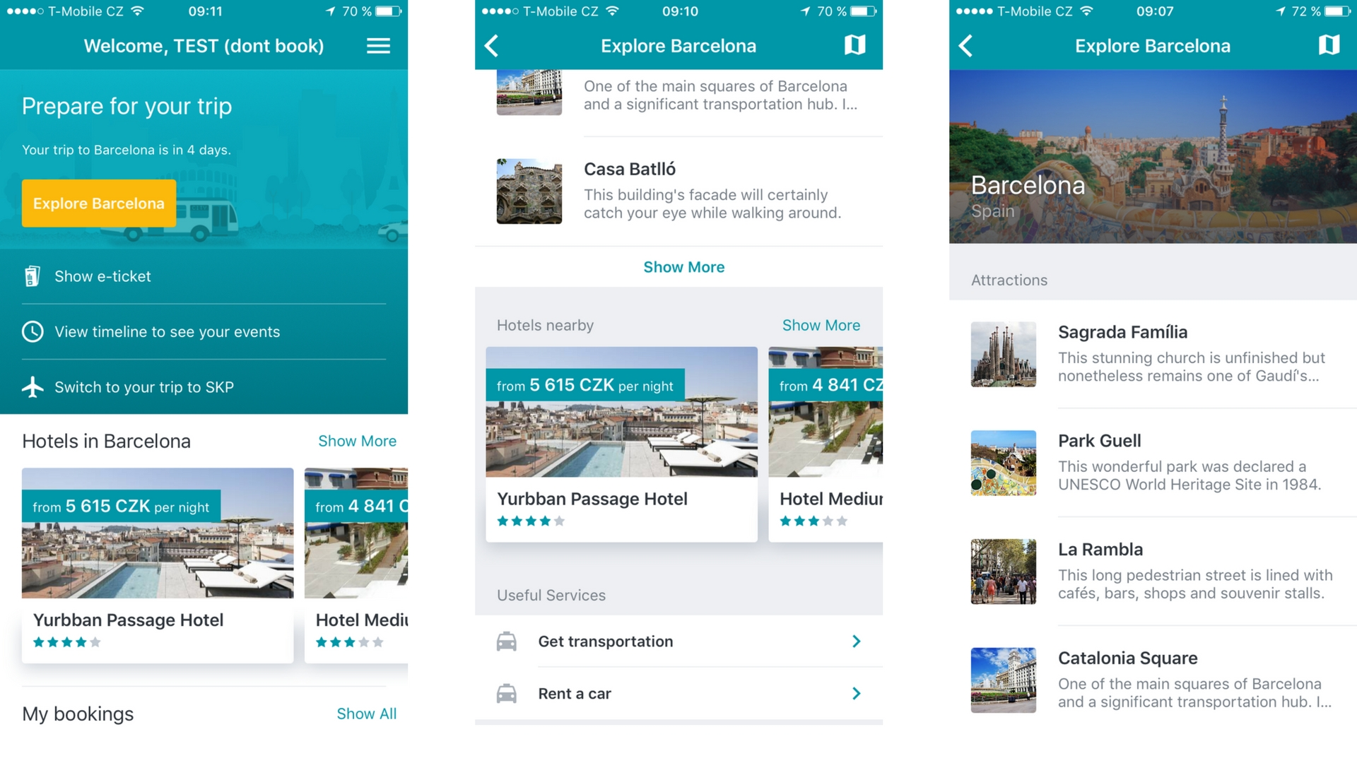 Kiwi com launched travel section in its own app based on Sygic