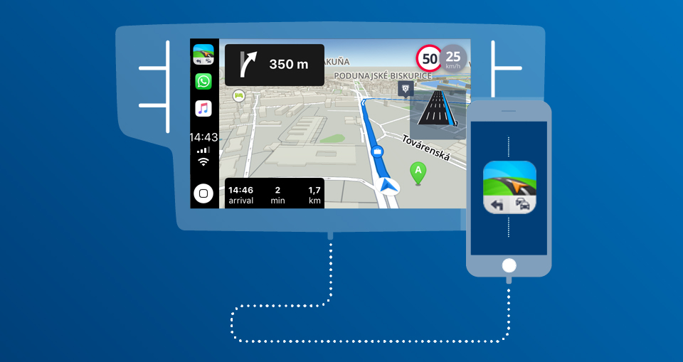 Sygic Confirms Apple CarPlay Connectivity as the First Offline
