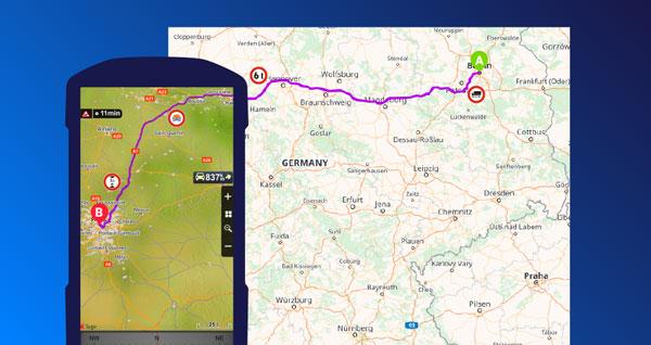 Send Truck & Multi drop Routes from Google Maps - Sygic ... on google zip code map, google street car map, google maps uk, hazmat routing map, google curriculum vitae, google city map,